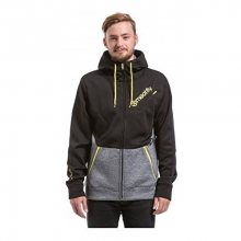 Meatfly Mikina Polygon 2 Technical Hoodie D - Black/Heather Grey S