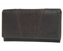 Lagen Dámská hnědá kožená peněženka Brown PWL-388/W-2