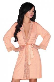 Župan Livco Corsetti Fashion Natela dressing gown L/XL broskvová