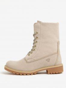 Béžové semišové voděodolné zimní boty Tamaris