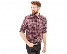 s.Oliver Pánská bavlněná kostkovaná košile Regular Fit M