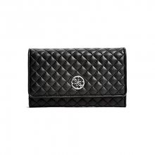 Guess Elegantní peněženka Classic Quilted Wallet and Pouch Black