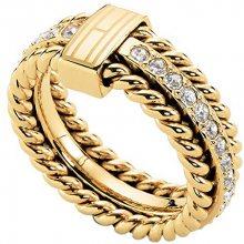 Tommy Hilfiger Nádherný pozlacený prsten s krystaly TH2700602 58 mm