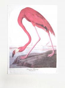 Bílo-růžová kuchyňská utěrka s motivem plameňáka Magpie Flamingo