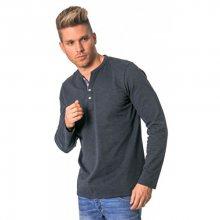Heavy Tools Pánské triko s dlouhým rukávem Civil W17-119 Jeans S