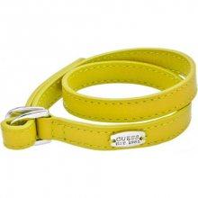 Guess Žlutý kožený náramek UBB21304-S