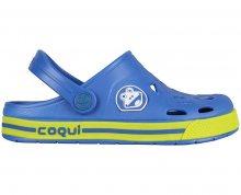 Coqui Dětské pantofle Froggy 8801 Royal/Citrus 101967 26-27