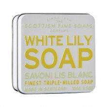 Scottish Fine Soaps Květinové mýdlo v plechu Bílá lilie 100 g