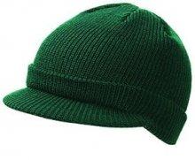 Zimní čepice s kšiltem MB7530 - Tmavě zelená | uni