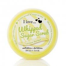 I Love Tělový peeling z našlehaného cukru s vůní citronového sorbetu (Lemon Sorbet Whipped Sugar Srub) 200 ml