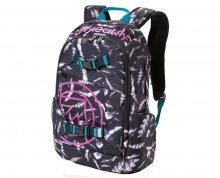 Meatfly Batoh Basejumper 3 Backpack M - Feather Grayscale Print