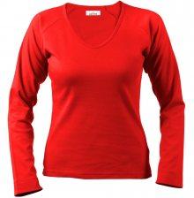 Dámské tričko s dlouhým rukávem Alex Fox - Červená | XL