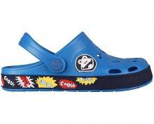 Coqui Dětské pantofle Froggy 8802 Sea blue/Navy 102341 26-27