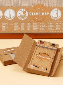 Luckies Mapa a poznámky z cest s razítkem Stamp Map Passport\n\n