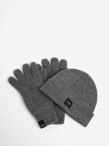 Set čepice a rukavic v šedé barvě ONLY & SONS X-box