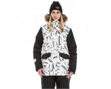 Meatfly Dámská zimní bunda Chelsea 2 Jacket D - Feather Print/Black S