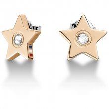 Tommy Hilfiger Bronzové náušnice Hvězdičky s krystalem TH2700843
