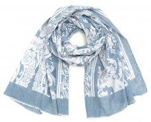 Art of Polo Dámský bavlněný šátek - Květy modrá sz16221.3