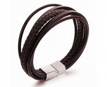 Troli Náramek z kožených pásků Leather