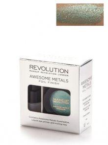 Makeup Revolution Metalické dlouhodržící oční stíny - emerald goddess\n\n
