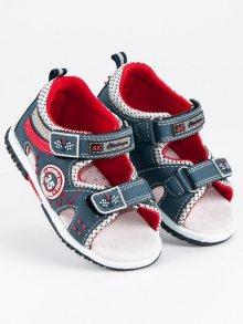 Moderní modré chlapecké sandály