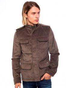 Trussardi Collection Pánská manšestrová bunda 60K532 BUJA_Grigio/Grey