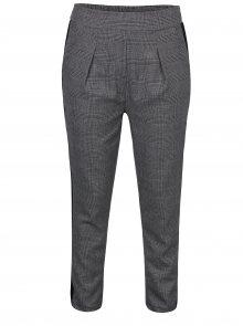 Šedé kostkované kalhoty s vysokým pasem Haily´s Valeria