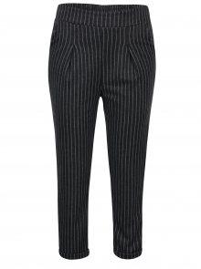 Tmavě šedé pruhované kalhoty s vysokým pasem Haily´s Clara