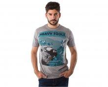 Heavy Tools Pánské triko s krátkým rukávem Miles W16-130 Argent XL