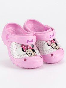 Dívčí růžové gumové nazouváky Mickey Mouse