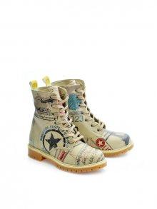 GOBY Dámskékotníčkové boty TMB1011_Printed - Colourful\n\n