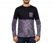 Hydroponic Pánské triko s dlouhým rukávem Madison Ls Pirate Black/Grey Splatter M
