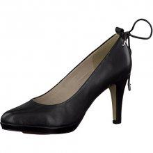 s.Oliver Elegantní dámské lodičky Black Leather 5-5-22414-28-003 36