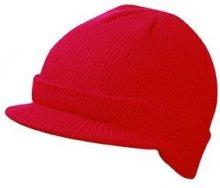 Zimní čepice s kšiltem MB7530 - Červená   uni