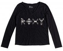 Roxy Dámské triko Lsvtwistparadis Anthracite ERJZT04010-KVJ0 S