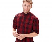 s.Oliver Červená kostkovaná košile XL