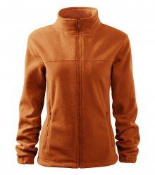 Dámská fleecová mikina Jacket - Oranžová | XS