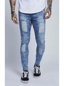 Ripped Slim Jeans Light Blue Illusive London 34