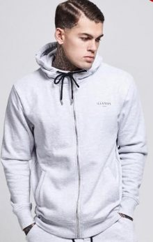 ZIp-Up Hoodie Light Grey Illusive London L