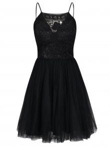 Černé šaty s tylovou sukní Chi Chi London Terrie