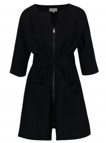 Černé šaty se zipem a opaskem Apricot