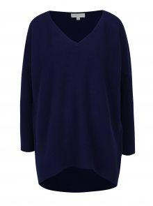 Tmavě modrý svetr s véčkovým výstřihem Apricot