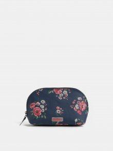 Tmavě modrá květovaná kosmetická taška na zip Cath Kidston