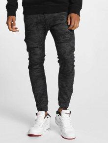 Kalhoty K205 Slim Fit Camo šedá tmavá 32