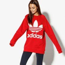 Adidas Mikina Oversized Sweat Adicolor Ženy Oblečení Mikiny Dh3140 Ženy Oblečení Mikiny Červená US L