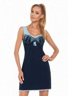 Donna Karina tmavě modrá Noční košile XXL tmavě modro-modrá