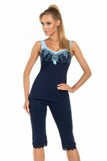 Donna Karina dámské pyžamo 3/4 tmavě modrá XXL tmavě modro-modrá