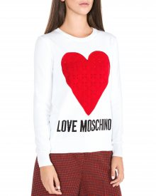 Svetr Love Moschino | Bílá | Dámské | XS