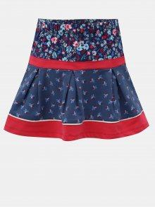 Červeno-modrá květovaná sukně BÓBOLI