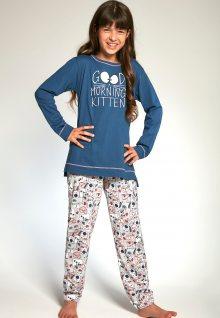 Dívčí pyžamo Cornette 103/89 134/140 Modrá